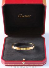 Cartier Gold Open Love Bracelet, with 1 Diamond