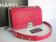 Chanel Boy Perforated Medium Flap Bag  Handbag