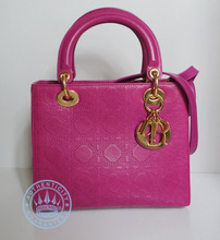 Christian Dior  In Pink Leather Handbag