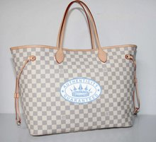 Louis Vuitton Neverfull GM Handbag, Damier  Azur Canvas