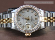 Rolex  2 Tone Datejust Watch, Diamond Dial